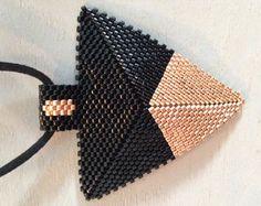 Items similar to Miyuki Necklace-Geometric -Triangle pendant - Colorful miyuki pendant - Elegant pendant on Etsy