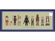The Force Awakens Character Cross Stitch DIGITAL by knottybytes