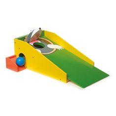 Juguete de #madera minigolf ideal para desarrollar la #motricidad mano-ojo #niños #educacion