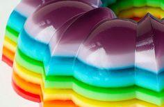 spiked rainbow jello
