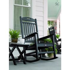 Eco Friendly Recycled Poly Porch Rocker - Made in the USA