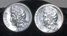 Vintage Swank Louis XIV Coin Cuff Links Cufflinks Silver Tone Large by ShonnasVintage on Etsy, $24.99