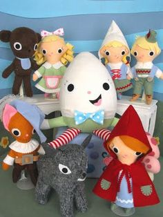 Storybook Land collection - love Humpty's stockings