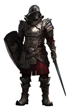 Character concept male soldier human armor plate castle royal guard shield sword steel fighter, Mikhail Palamarchuk