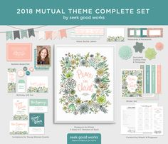 2018 LDS Mutual Theme - Peace in Christ - Complete Set - Young Women Printables