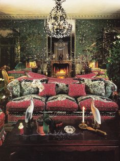 """Palm Beach Fable"": that was the headline for an article written by Rosamond Bernier for the May, 1984, issue of House & Garden, featuring the famous but never-before-published rooms of Mr. and Mrs. Charles W. Wrightsman.  This is one view of the living room."