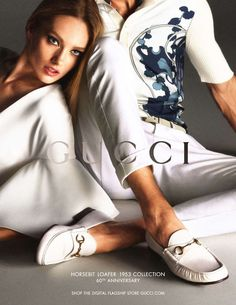 Gucci  Season: Spring Summer 2013  Models: Anja Rubik, Karmen Pedaru  Photographer: Mert Alas and Marcus Piggott