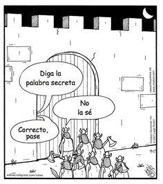 Él asista la clase de español a las diez y cinco de la mañana los martes y jueves. Chistes españoles: http://www.spanishplayground.net/10-simple-spanish-jokes-for-kids/