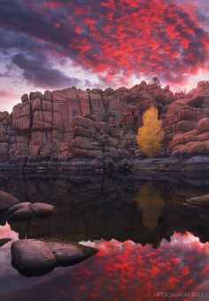 Candle Lit Lake (Watson Lake, Arizona) by PeterJCoskun.deviantart.com on @deviantART