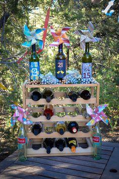 Wine Tasting  Save the Date Engagement Party DIY Pinwheels Pinwheels  Wine Bottles #LoveMyAdventure