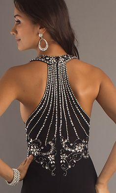 Black Formal Gown with Beaded Back. So pretty but i dont know what i would wear it for.