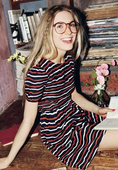 @Jack Wills #GREENSHOOTS I have similar glasses at home so that dress would be perfect to recreate the whole look, this is actually my favourite dress in the whole of the Jack Wills spring catalogue