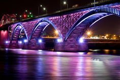 Peace Bridge - Buffalo, NY to Fort Erie, Ontario. Built in 1873, it was so named to commemorate 100 years of peace between the United States and Canada.