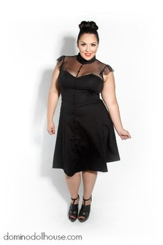 dominodollhouse:  New Stuff! Check out our Vamp Doll Dress!  It's $49.95 and runs sizes 14-28.