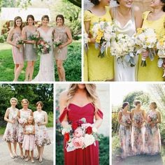 Snippets, Whispers & Ribbons – 5 Stunning Modern Vintage Summer Bridesmaids Looks