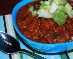 Vegan Chili recipe -- perfect to warm the tummy on cold nights.