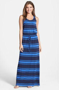 Caslon® Drawstring Jersey Maxi Dress (Regular & Petite) available at #Nordstrom