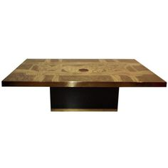 1stdibs.com | Signed George Mathias Etched Bronze and Agate Coffee Table