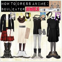 """HOW TO WEAR ANIME: Soul Eater- Liberty"" by tips-tips-tipss on Polyvore"
