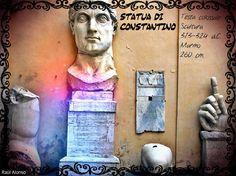 Testa colossale di Constantino. Musei Capitolini. Roma.