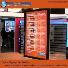 #DigitalSignage display #live, real-time #content feeds to keep #screens fresh and #noticeable. #TucanaGlobalTechnology #Manufacturer #HongKong
