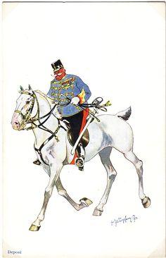 Austria, Austro Hungarian, Caricature, Empire, Moose Art, Animals, Belle Epoque, Hungary, Army