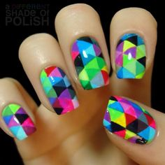 How many triangles do you see? :D Pattern inspired by artist... - A Different Shade of Polish