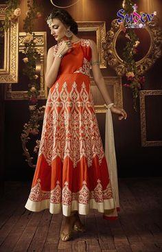 Orange Color Designer Party Wear Salwar Suit. #salwarsuit #salwarkameez #dresses #womenfashion #womendresses #partywearsuit #embroderysalwarsuit #anarkalisalwarsuit #buyonlinesalwarsuit #designersalwarsuit #salwarsuitdesign #latestcollection #designercollection #buyonlinesalwarsuit #clothing #fashion #weddingwearsalwarsuit #onlinesalwarsuit #orangecolorpartywearsuit