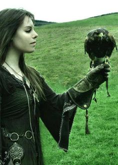 The enchanting Janne Eikeblad with Harris Hawk in Scotland