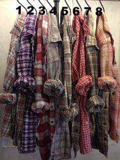 Farmstead Vintage Washed Flannel Shirts- Size Large (B) – Red Door Boutique Lined Flannel Shirt, Plaid Flannel, Flannel Shirts, Plaid Shirt Outfits, Oversized Flannel, Fabric Display, Man Dressing Style, Check Fabric, Popular Outfits