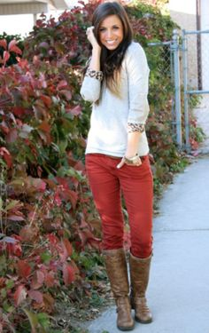 Paprika jeans. Perfect color for fall.