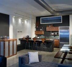 Modern Loft Kitchen by Infusion Furniture