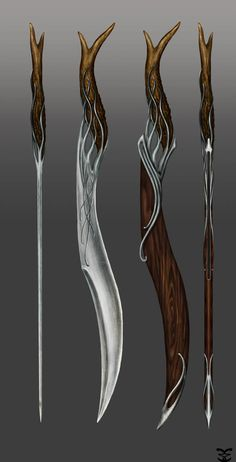 Elven Ranger Sword by Atohas on deviantART //Dresciene blade? Swords And Daggers, Knives And Swords, Deviantart, Fantasy Sword, Fantasy Blade, Medieval Weapons, Weapon Concept Art, Medieval Fantasy, Katana