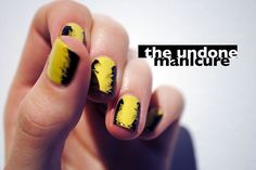 ~Abstract~ (aka easy). | 27 Lazy Girl Nail Art Ideas That Are Actually Easy