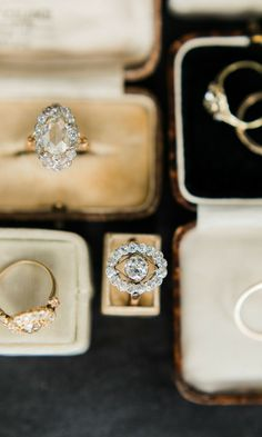 Unique vintage engagement rings that come in the prettiest of timeless styles! Browse unique rings from Victor Barboné Jewelry!