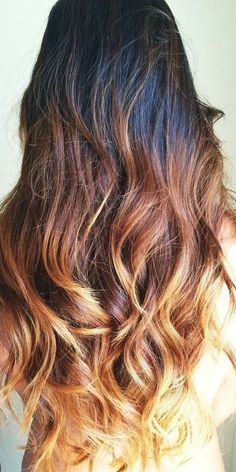 Dark to Brown Blonde Ombre Hair... Really tempted to get my hair done 608b897f4f4e