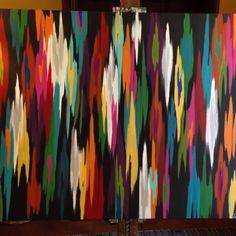 Night light. Original abstract painting by Rita Ortloff. 3'x4'.  www.ritaortloff.com #acrylic #art #abstract #painting