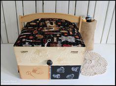 """Caixa de costura mega-large """"Cantinho da Costura"""""""