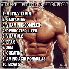 Top 10 Supplements To Build Muscle