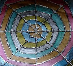 Stained Glass Spider Web - Glue Art