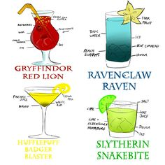 Harry Potter themed drinks....because I can. Great if you are watching all the Harry Potter movies back to back.