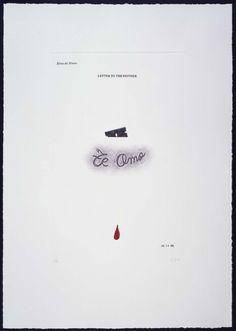 Elena del Rivero - Letter to the Mother. Te amo (Carta a la madre) I Love You, Lettering, Te Amo, Letters, Je T'aime, Drawing Letters, Love You, Brush Lettering