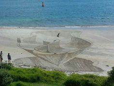 3D sand drawings | Ben Harkins