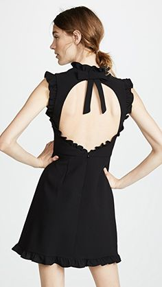 Jill Jill Stuart Ruffle Hem Dress