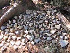 Heart shaped rocks | home stuff | Pinterest