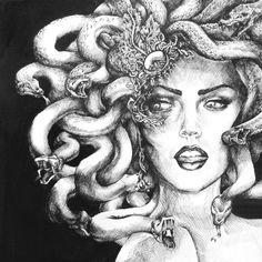 Medusa by MadeleineInk.deviantart.com on @deviantART