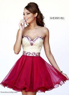 21173c8f505 Sherri Hill 1929 Short Party Dress - French Novelty Semi Dresses
