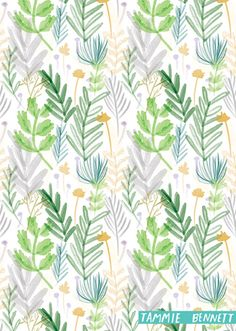 Designer Tammie Bennett recently completed a daily challenge to create a repeat pattern each day in September 2015. print & pattern