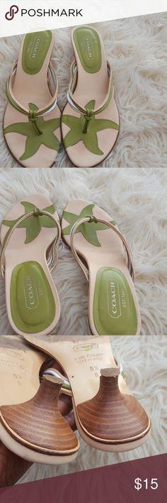 """Coach sandal 1"""" inche heel. Coach Shoes Sandals"""