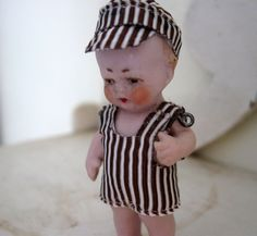 Antique German Miniature Doll Tiny Bisque Boy by Somethingcharming